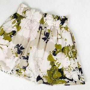 Francesca's Criss-Cross Floral Lined Skirt